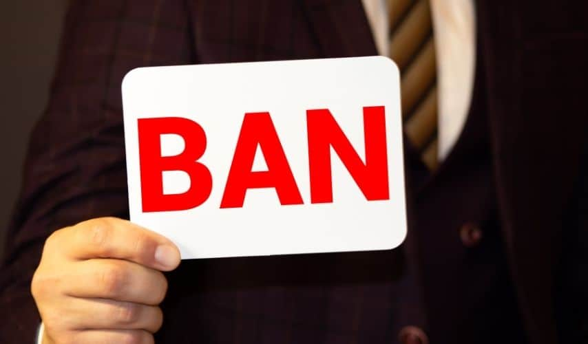 ban someone from your business